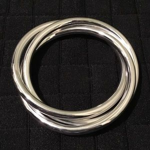 Jewelry - LAST ONE! Gorgeous 925SS wide triple hoop bangle